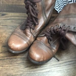 Steve Madden Shoes - Brown Combat boots